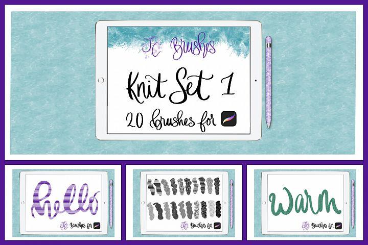 FC-Knit-Set1 brushes for PROCREATE