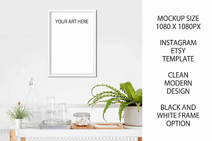A4 Art Photography Frame Mockup for Etsy / Instagram example