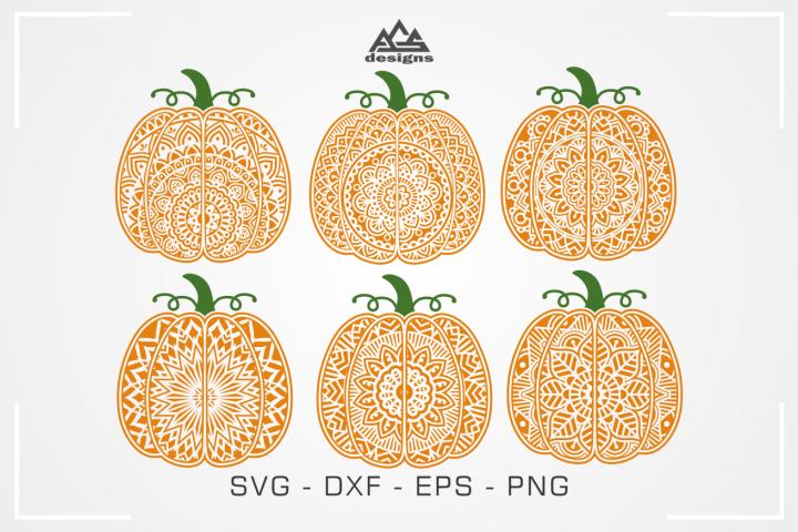 Fall Pumpkin Mandala Svg Design