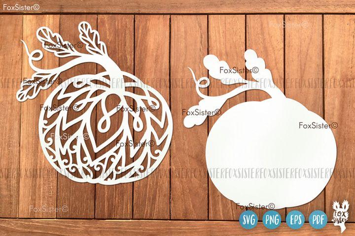 Pumpkin Svg Clipart Vector Cut File, Fall Svg, Halloween Svg
