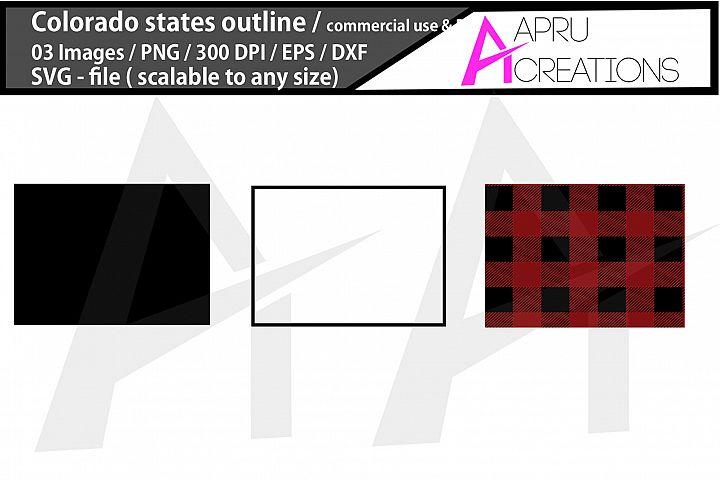 colorado vector map / colorado outline / colorado plaid