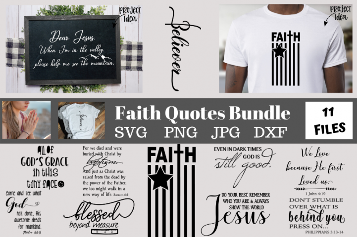 Faith quotes Bundle svg png dxf jpg, Christian quotes bundle