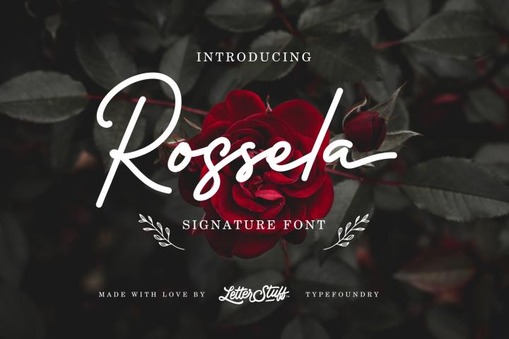 Rossela Signature Font & Extras