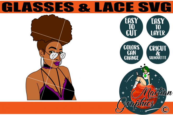 Glasses & Lace SVG