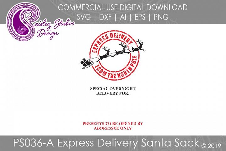 Express Delivery Santa Sack SVG DXF Ai EPS