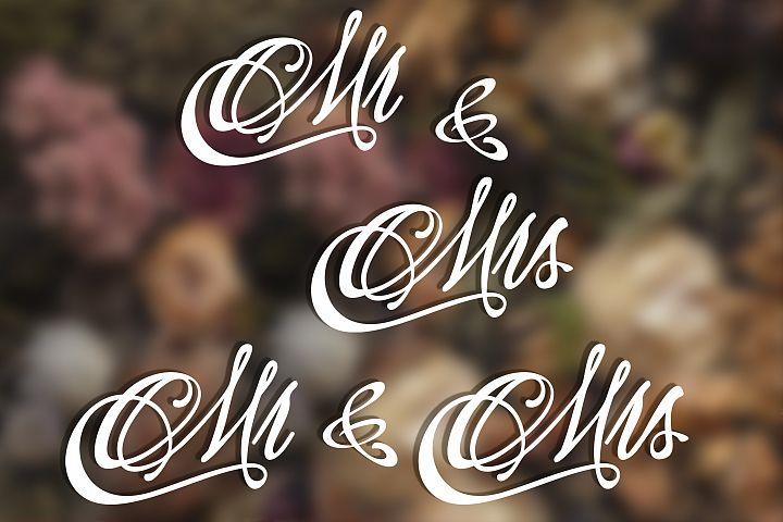 Wedding svg Mr and Mrs svg Monogram svg example image 3