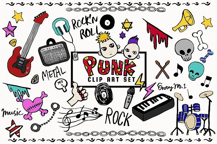 Doodled Illustration 02 Punk Rock
