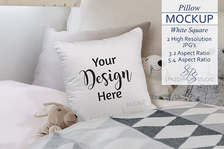 Childs Pillow Mockup Farmhouse Style 3.2/5.4 Aspect Ratios