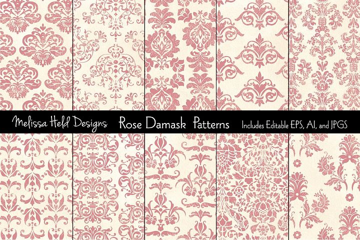 Rose Damask Patterns