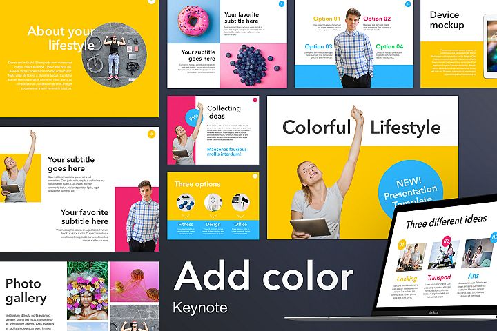 Add Color Keynote Template
