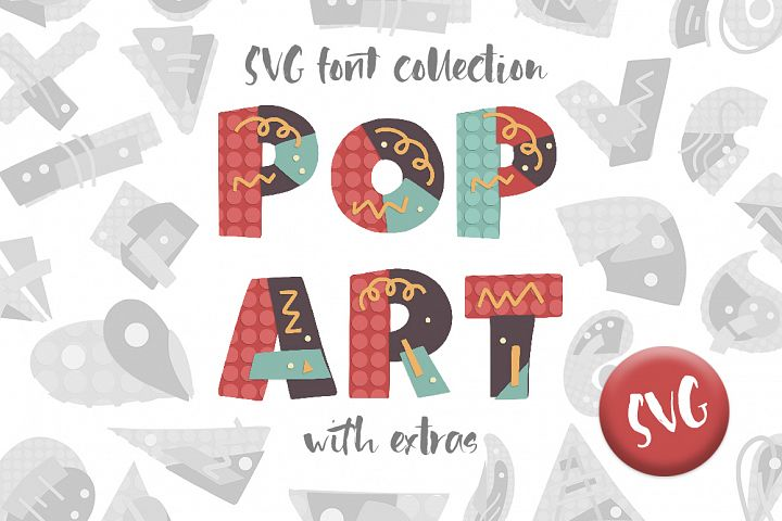 POP ART. SVG font collection.