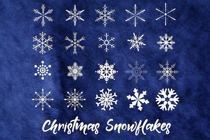 Christmas Snowflakes Clip Art, 20 Snowflake Images