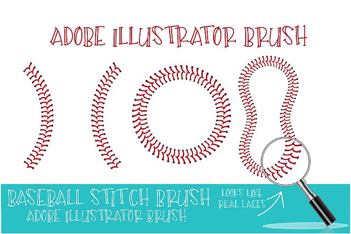Baseball Brush, Adobe Illustrator, Baseball Stitch