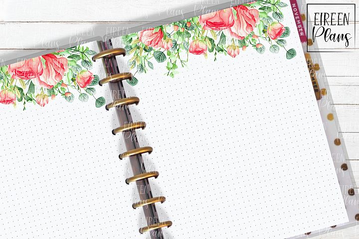 Set of floral notes for the Classic Happy Planner