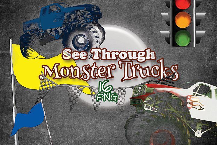 See Through Monster Trucks