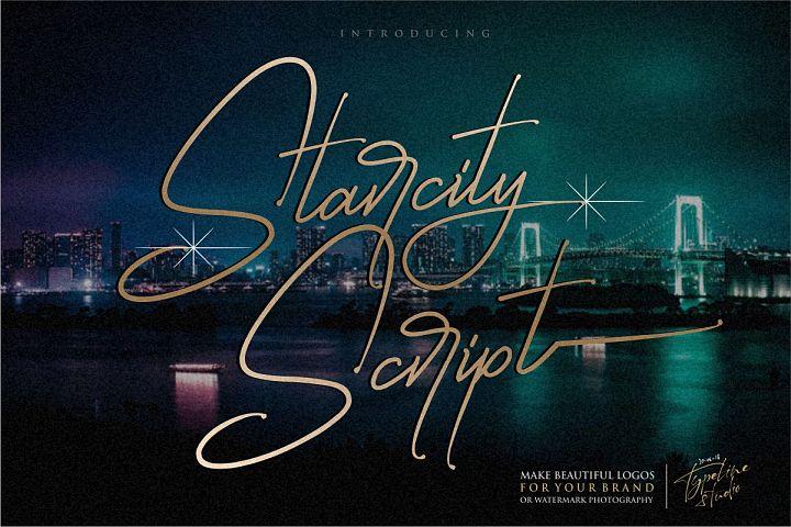Starcity Script // Signature Font