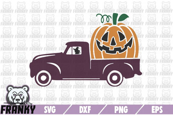 Halloween truck - SVG - DXF - PNG - EPS