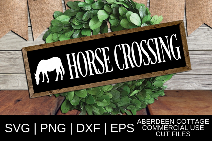 Horse Crossing SVG