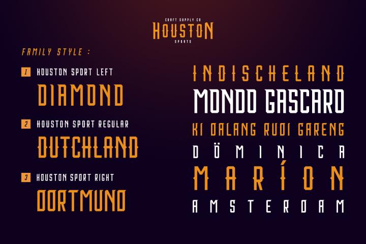 Houston Sports Font Family example image 3