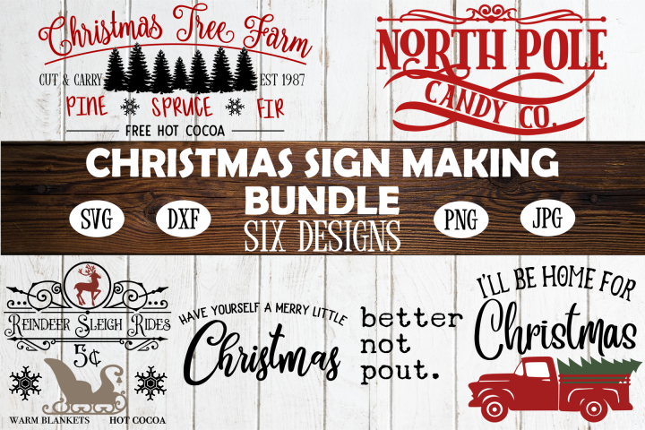 Christmas Sign Making Bundle | Christmas SVG Bundle