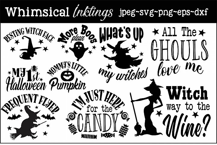 Halloween Fun Mini SVG Bundle
