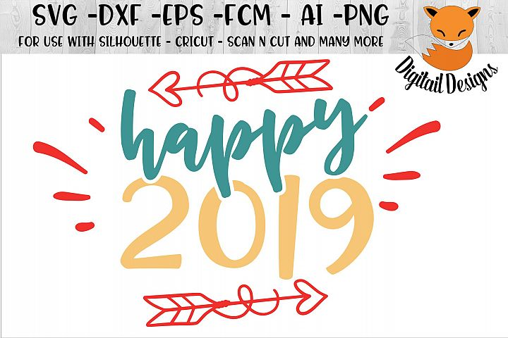 New Year SVG for Silhouette, Cricut