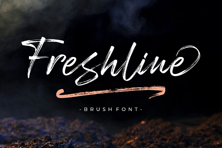 Freshline Brush Font