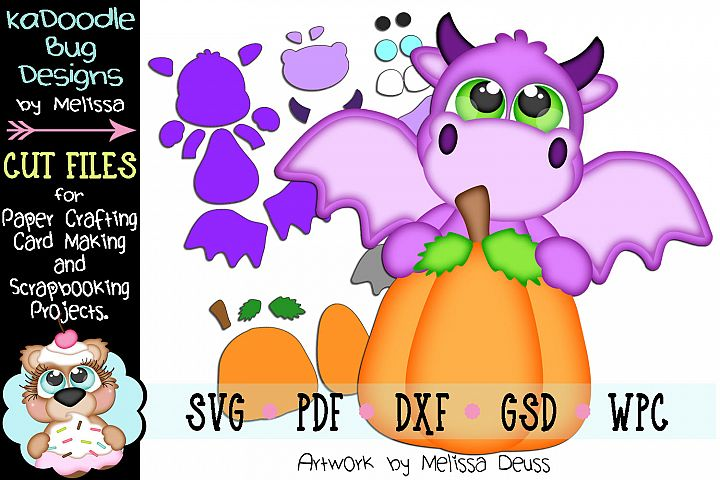 Pumpkin Dragon Cut File - SVG PDF DXF GSD WPC