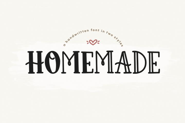Homemade - A Cute and Chunky Handwritten Font