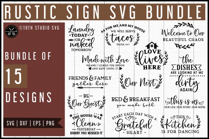 Rustic Sign SVG Bundle | MB60