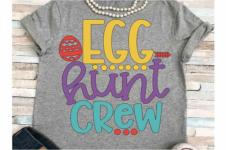 Easter SVG DXF JPEG Silhouette Cameo Cricut Egg hunt crew