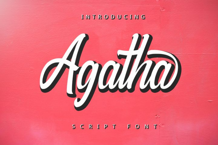 Agatha - Script Font