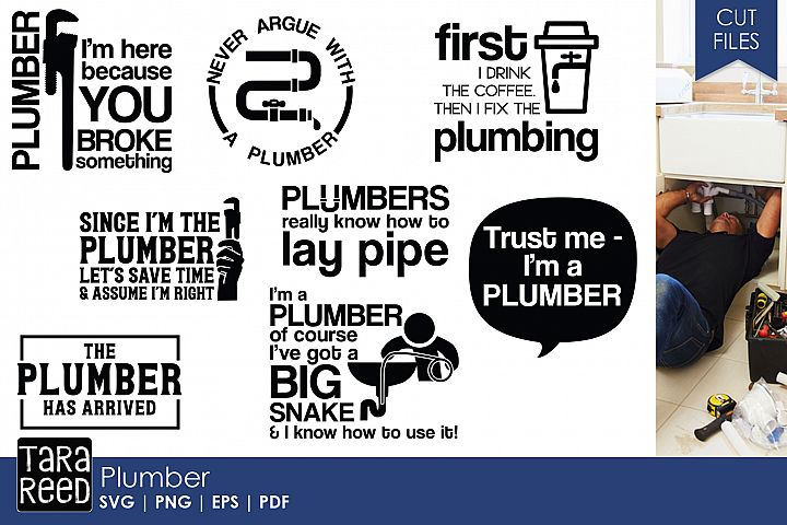 Plumber SVG and Cut Files for Crafters