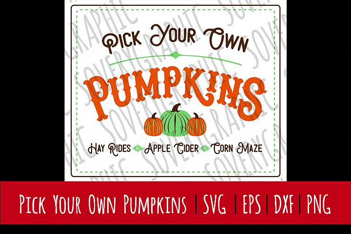 Pick Your Own Pumpkins | SVG | PNG | Printable | Fall Autumn