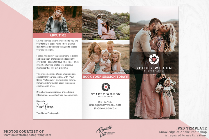 Photography Tri-fold Brochure Photoshop Template