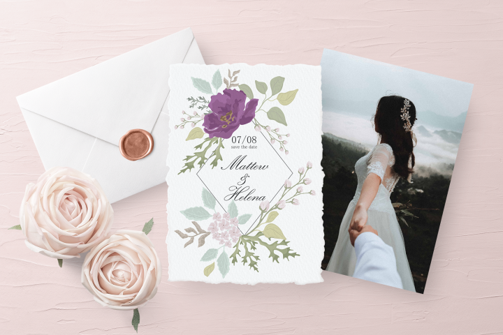 Wedding Invitations and Clipart Set