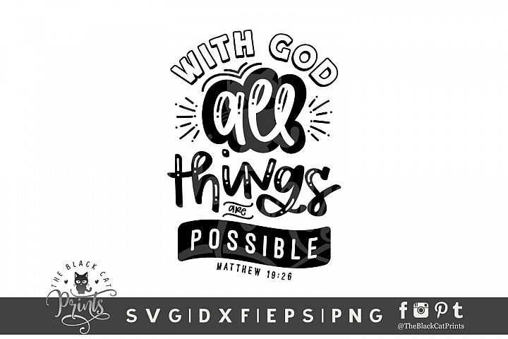 With God All Things Are Possible SVG DXF EPS PNG