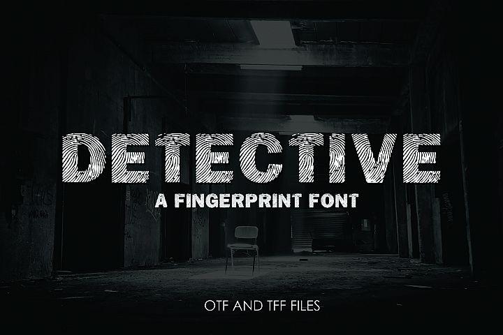 DETECTIVE, a Fingerprint Typeface