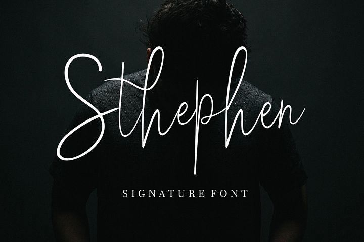 Sthephen Signature Font