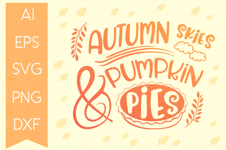 Autumn Typography SVG Cut File II