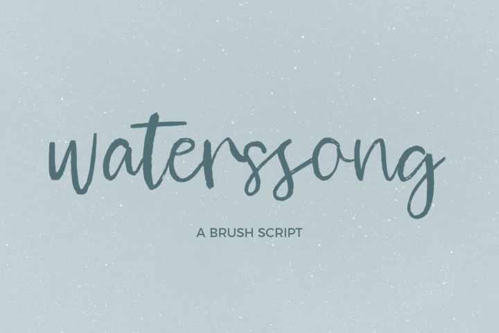 Waterssong Brush Script