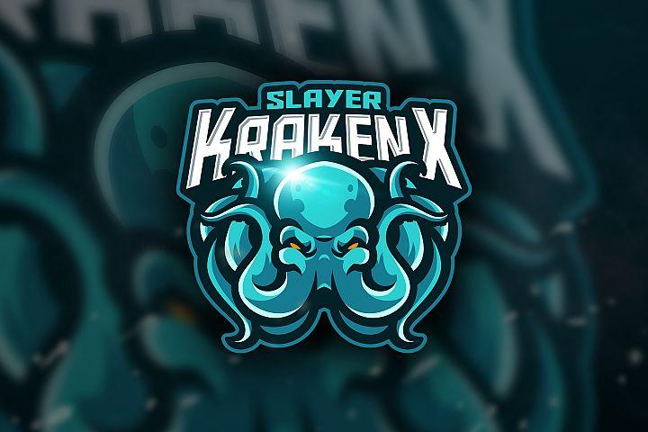 Slayer KrakenX - Mascot & Esport Logo