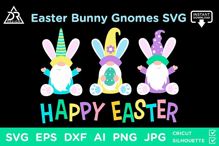 Easter Bunny Gnomes SVG
