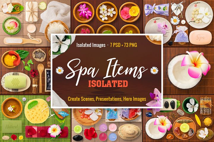 Isolated Spa Items
