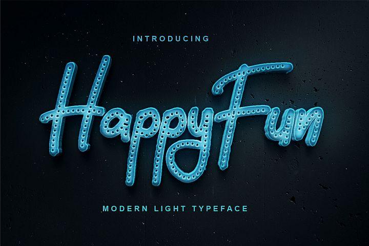 HappyFun | Modern Light Typeface