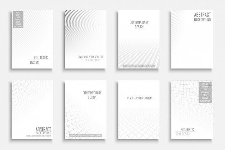 White striped infinity covers