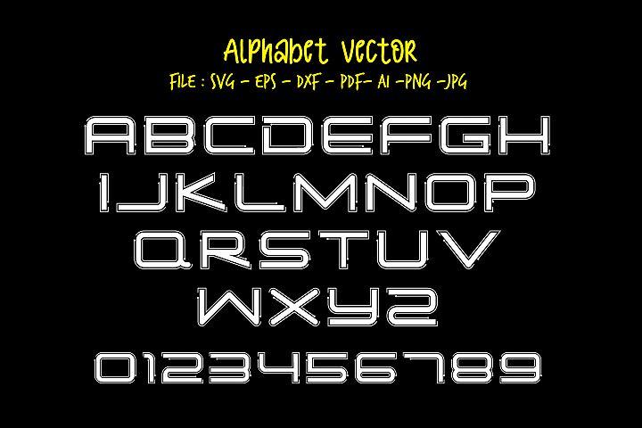 Alphabet Vector_01_Simple Tech