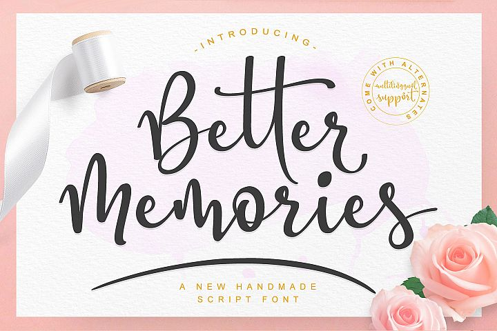Better Memories Font