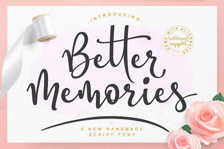 Better Memories Font