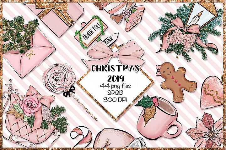 Christmas 2019 png set - Pink